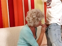 Granny in Glasses Fucks the..