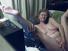 Comely granny with glasses 12