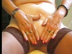 Granny masturbating all over..