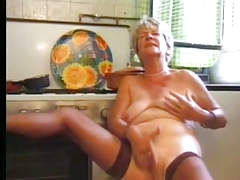Granny in Stockings Plays in..