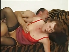 Granny in Peppery Cami Fucked