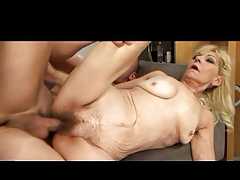 Saggy Blonde Granny Fucked