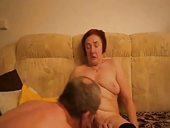 Granny masturbating by boy..