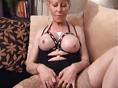 Tarty Granny in Stockings..