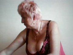 Granny with obese tits