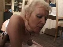 french shaved blonde granny..