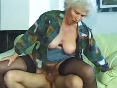 Horny MILF granny Norma with..