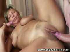 Hot grandma fucked in excess..