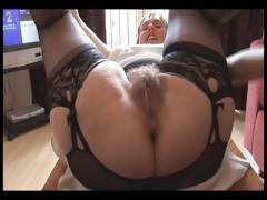 Hairy busty mature lady in..
