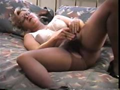 Blonde mature in pantyhose..