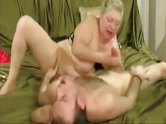 Slut granny enjoys round..