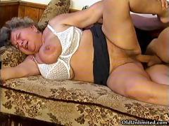 Horny grandma loves sucking..