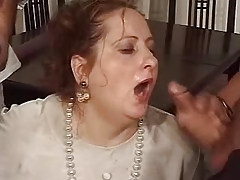 Mature gets mouth full be..