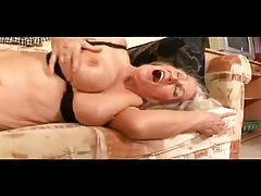 Granny Toys Her Meaty Pussy..