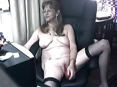 Pervert cute granny having..