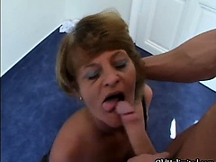 Tow-headed mature housewifes..