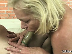 Grotesque granny gets horny..