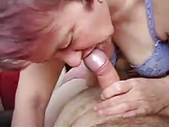 Wife suck dick on bed
