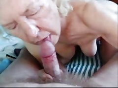Older grandma sucking penis..