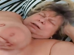 Big Tit BBW Granny Sucks and..