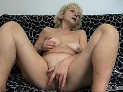 Smutty blonde old bag gets..