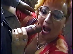 HUNGARIAN GRANNY FUCKED BY A..