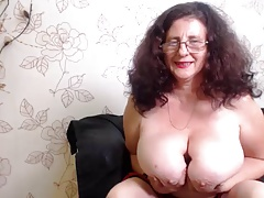 Huge boob granny webcam