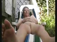 Granny having pastime in..
