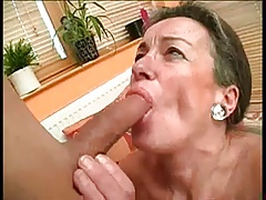 Hairy Granny Drilled By..