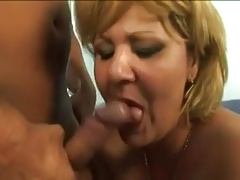 Blonde Grandmother seduced..
