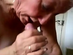 Busty Granny Gives A Blowjob..