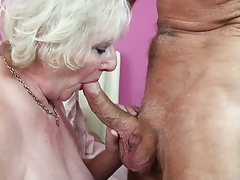 Blonde Mature gets a good..