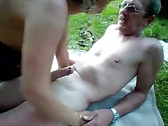 Matured couple outdoor..
