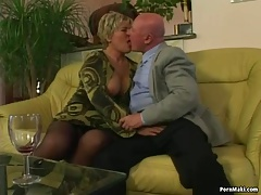 Chubby granny gets pounded..