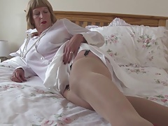 Sexy grandmother with big..