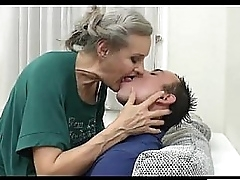 Granny fucked by young beggar