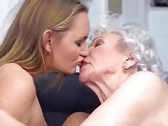 85yo Granny and 22yo Girl in..