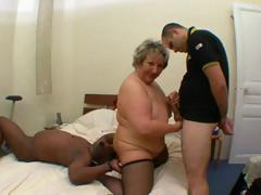 Nasty French obese mature,..