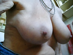 Saggy empty tits of my old..