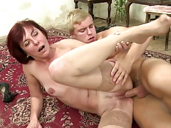 Mature mother suck and..