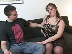 Young son fucks sexy mature..