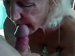 Ugly old granny sucking..