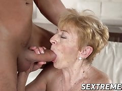 Nasty granny Malya seduced..