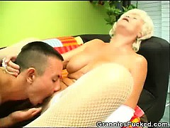 Horny Granny Rides In excess..