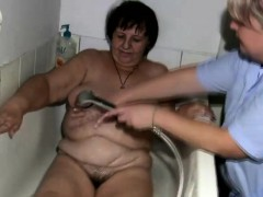 Fat granny gets treated by..